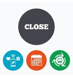 Close sign icon cancel symbol vector