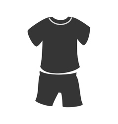 Sport wear isolated flat icon vector