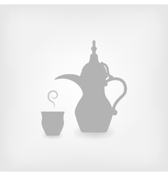 Arabic coffee white background vector