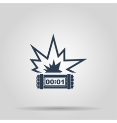 Tnt dynamite bomb icon vector