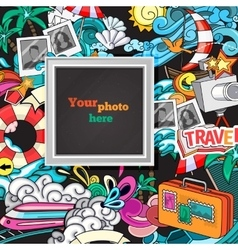 abstract photo frame vector image vector image
