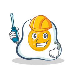 Automotive fried egg character cartoon vector