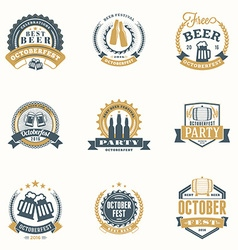 Beer festival octoberfest celebrations set of vector