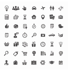 Big Icon Set Travel Business Retail and Sciense vector image vector image