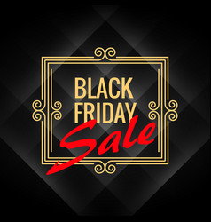 Black friday sale poster with artistic frame vector