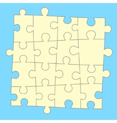 Blue puzzle background vector