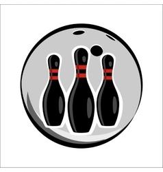 Bowling team or club emblem vector image vector image