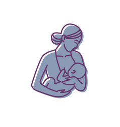 Breastfeeding mother and baby logo vector