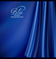 Brightly lit blue curtain background blue silk vector