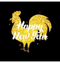 Chinese rooster new year postcard vector