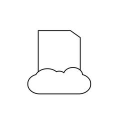 cloud data icon vector image