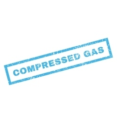 Compressed gas rubber stamp vector