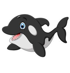 Cute killer whale cartoon vector image
