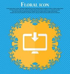 Download load backup floral flat design on a blue vector