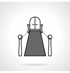 Entrance with carpet black line icon vector