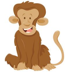 Funny monkey animal character vector