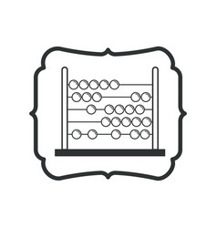 Isolated abacus of school design vector