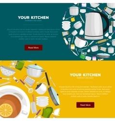 Kitchenware utensils set of vector image
