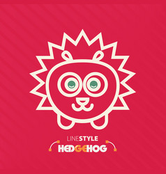 Line style hedgehog vector