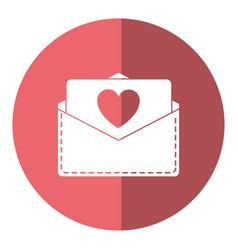 Love heart envelope mail valentine letter shado vector