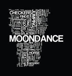 Moondance alexander text background word cloud vector