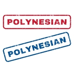 Polynesian rubber stamps vector