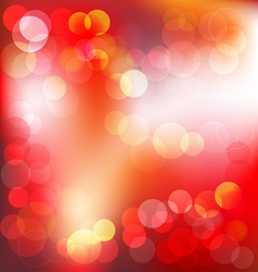Red elegant abstract background with bokeh lights vector image