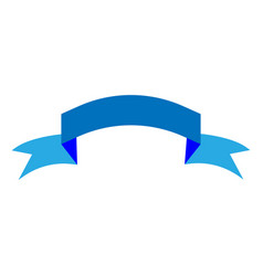 ribbon blue sign 1603 vector image
