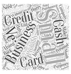 Small business credit cards word cloud concept vector