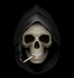 smoking kills Skull death 01 vector image