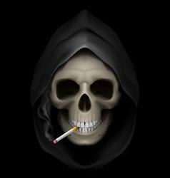 Smoking kills skull death 01 vector