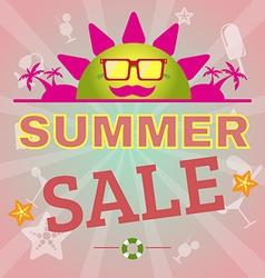 Summer Sale Promotion Flyer vector image