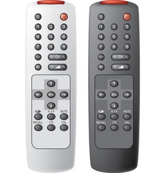 TV remote controls vector image vector image