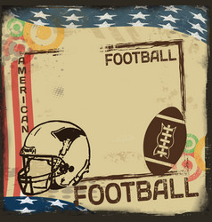 vintage american football poster or frame vector image vector image