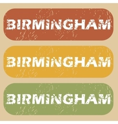 Vintage birmingham stamp set vector