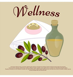 Wellness Beauty salon concept Olive oil soap face vector image