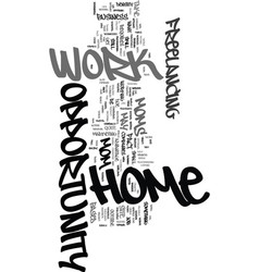 Work at home mom opportunity text word cloud vector