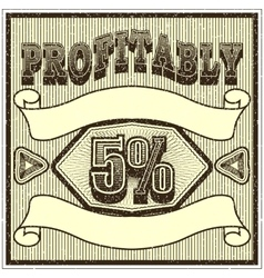 Vintage banner on discounts and sales Template vector image