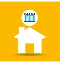 e-commerce store building web page design vector image