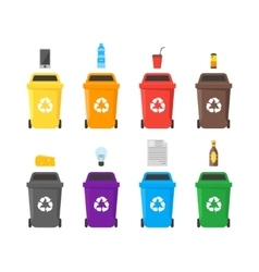 Recycle bins set vector