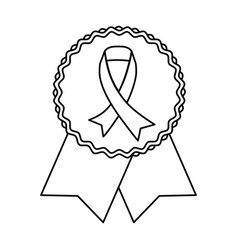 Breast cancer campaign symbol vector