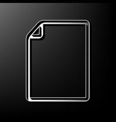 Vertical document sign gray vector