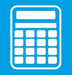 calculator icon white vector image