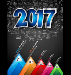 2017 new year infograph and business plan vector