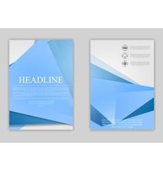 Abstract blue minimal tech flyer design vector image