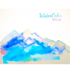 Watercolor mountain background vector