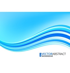 Blue ocean background vector