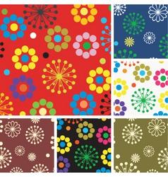 floral patterns vector image