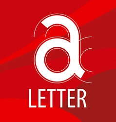 Logo red letter a in the form of a drawing vector