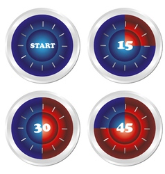 set of timer vector image